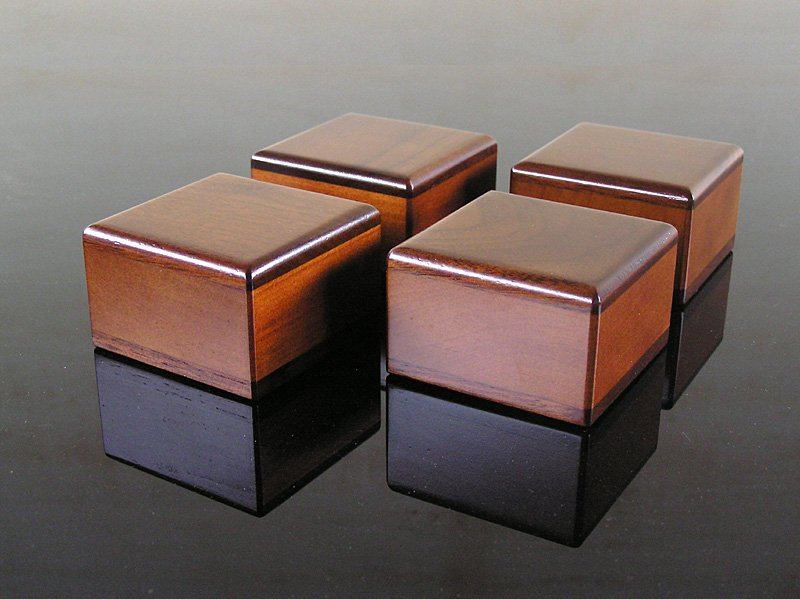 画像1: 木製オリジナル・インシュレーター <4個セット 6個セット>